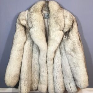 Jackets & Blazers - Outstanding lush & full BLUE FOX fur jacket Medium